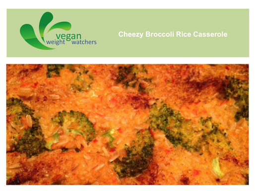 Vegan Cheezy Broccoli Rice Casserole Recipe