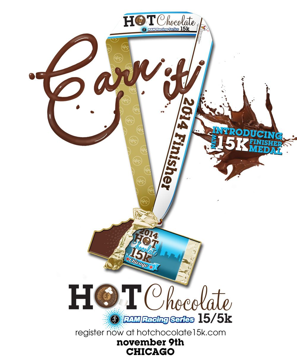 Hot Chocolate Chicago 15k Finisher Medal #running #chicago | Hot ...