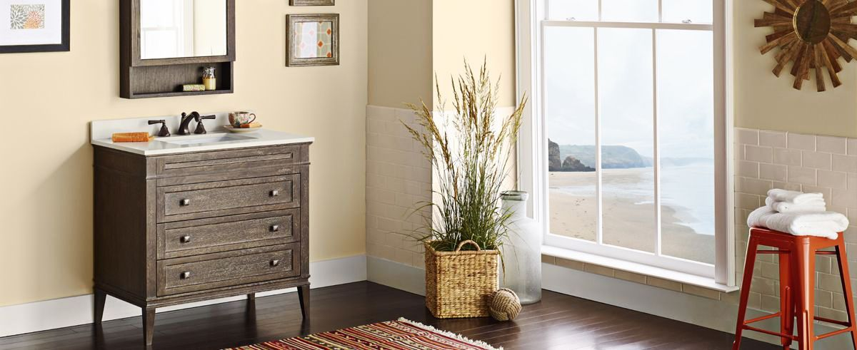 Ronbow Neo Clic Laurel W Wood Cabinet Vintage Caf Eacute Vanity Set With Wide White Top