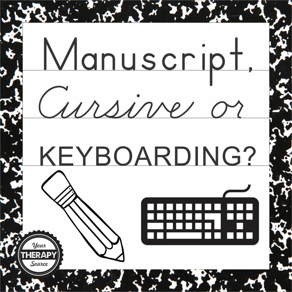 M Cript Cursive Or Keyboarding