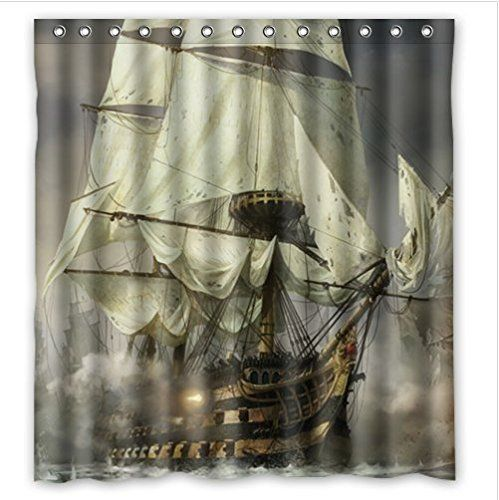 Cool Pirate Ship Waterproof Bathroom Shower Curtain Arrived