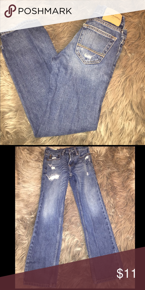 Abercrombie Kid Jeans Used boys Jean, thick in material. Great for winter abercrombie kids Bottoms Jeans