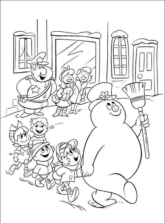 Frosty Balwan 9 Kolorowanki Snowman Coloring Pages Coloring Pages Coloring Books