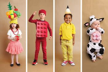 These costumes are faster than the lineup at the party store and easier than one of those fancy pumpkin-carving stencils.