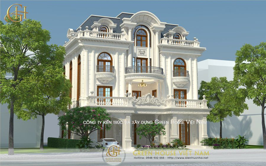 Thiết kế biệt thự tân cổ điển 3 tầng 1 tum Chú KhoaBắc Giang is part of House design -