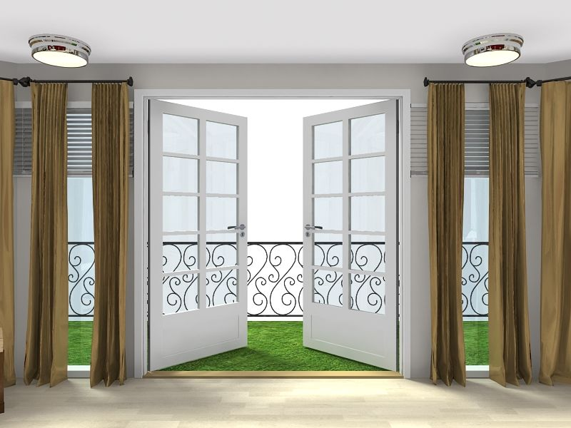 French doors that open onto a veranda with grass- & Visualize your spaces in 3D! French doors that open onto a veranda ...