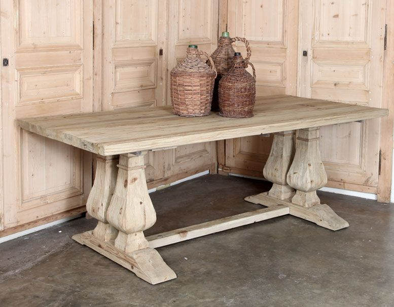 Rustic Trestle Table | Country French Style | Inessa Stewart's Antiques