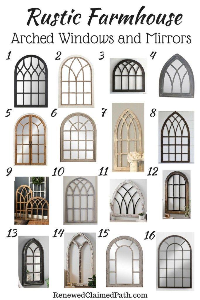 16 Arched Window and Mirror Decor Ideas #rustichomedecor