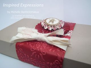 Christmas Gift Box (New cotton ribbon, Core'dination cardstock)