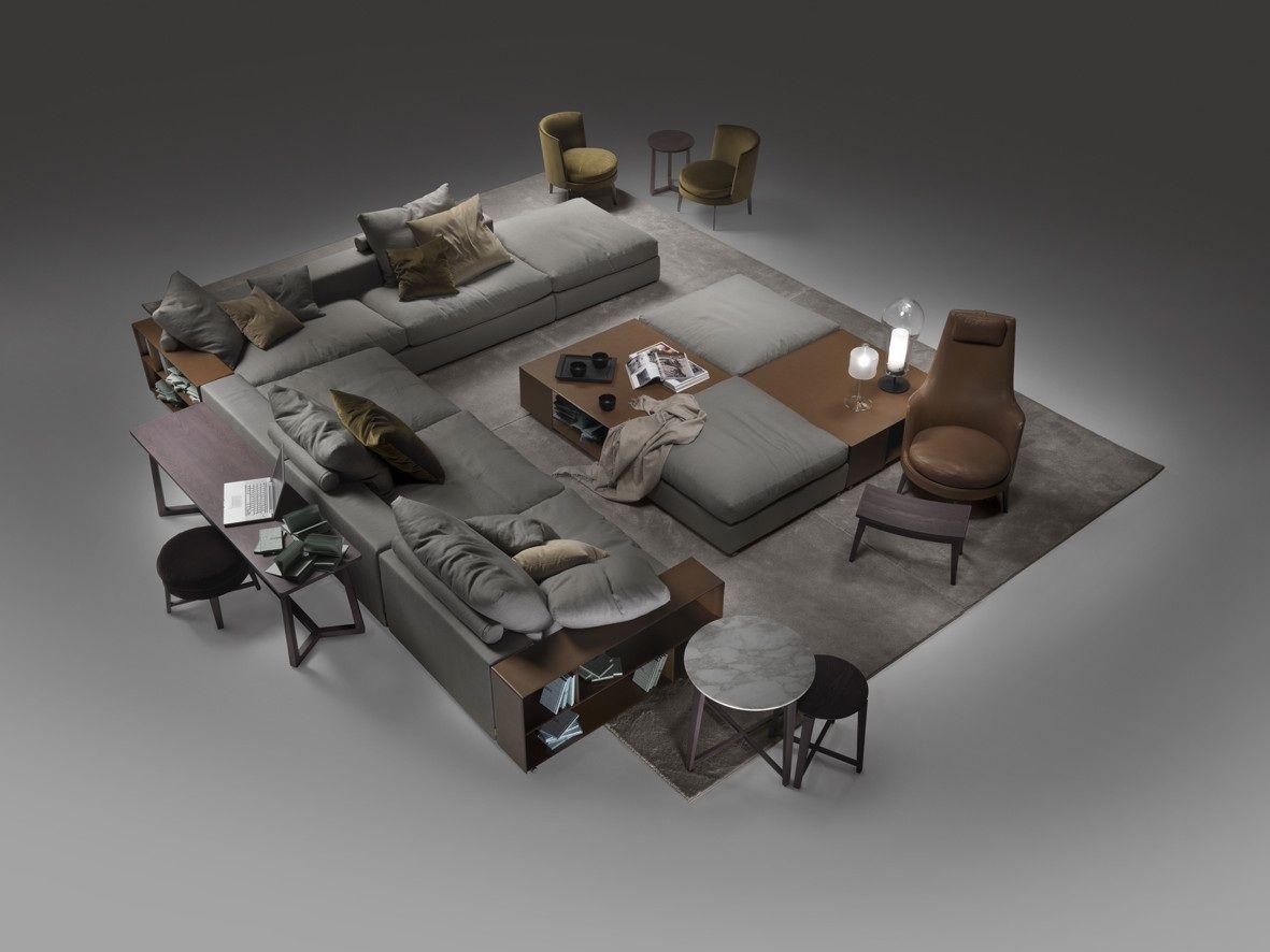 groundpiece sofa FLEXFORM Anna Bagiska Pinterest Architecture
