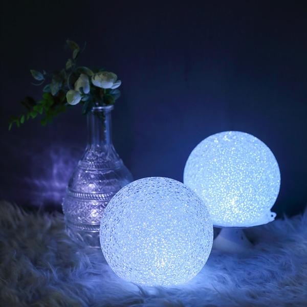 Efavormart Set Of 2 6 Color Changing Portable Led Ball Lights Battery Operated Led Orbs For Wedding Party Decoration Walmart Com In 2020 Led Ball Lights Ball Lights Orb Light