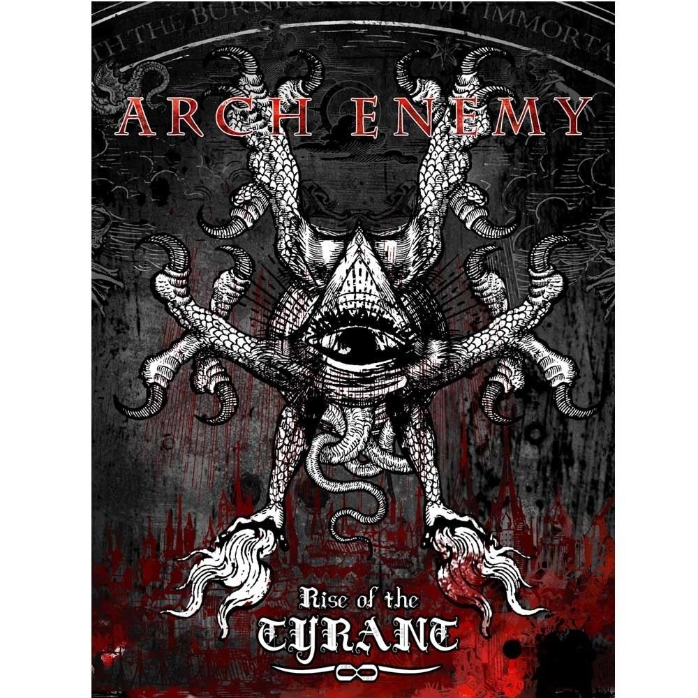 17 99 Aud Arch Enemy Rise Of The Tyrant Fabric Poster Flag