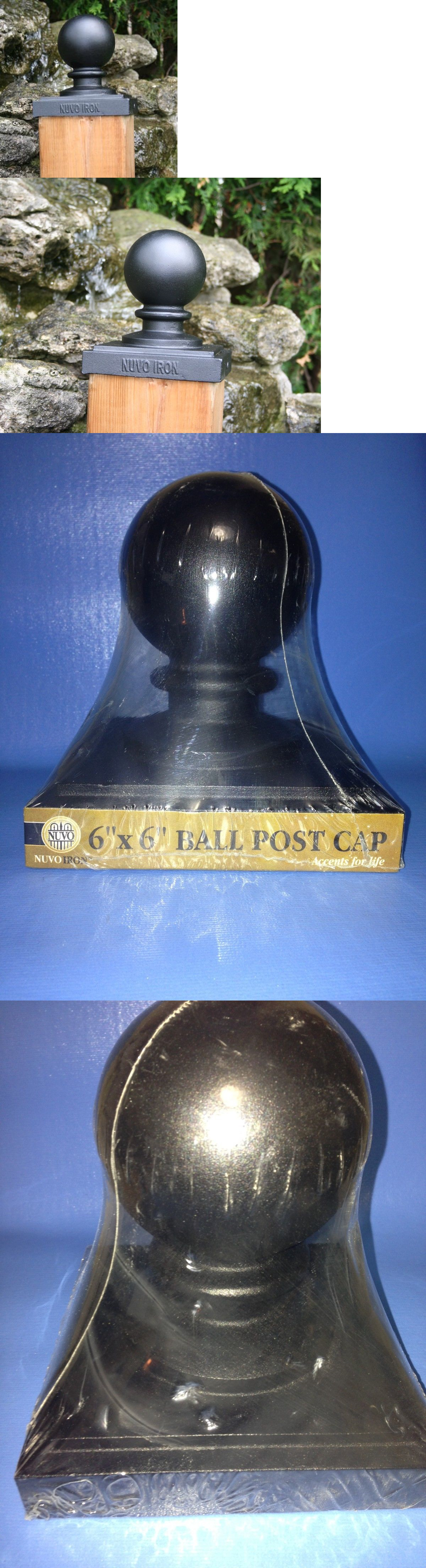 Post Caps Nuvo Iron 5 5 X 5 5 Nominal 6 X 6 Ball Post Cap