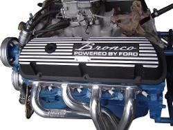 Valve Covers Black W Bronco Script V8 302 351w 80 86 Ford Bronco New Tbp Ford Bronco Bronco Classic Ford Trucks