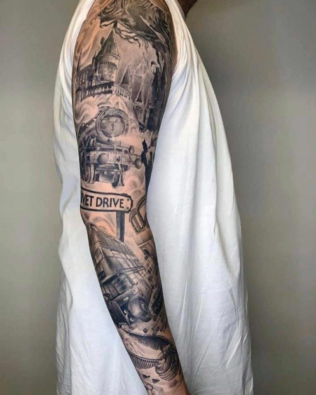 Pin By Haley Johnson On Art Tattoos Body Art Harry Potter Tattoo Sleeve Harry Potter Tattoos Hogwarts Tattoo