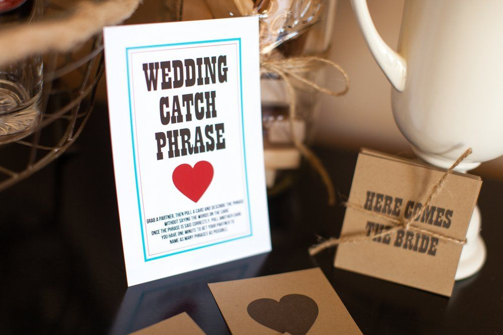 Wedding Catch Phrase Couples Shower Games