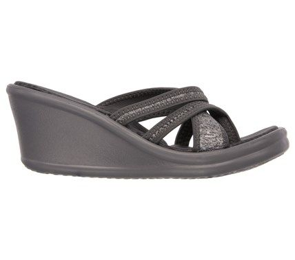 Skechers Women's Rumblers Pen Pal Memory Foam Thong Wedge Sandals (Gray) | Pen  pals, Skechers and Memory foam