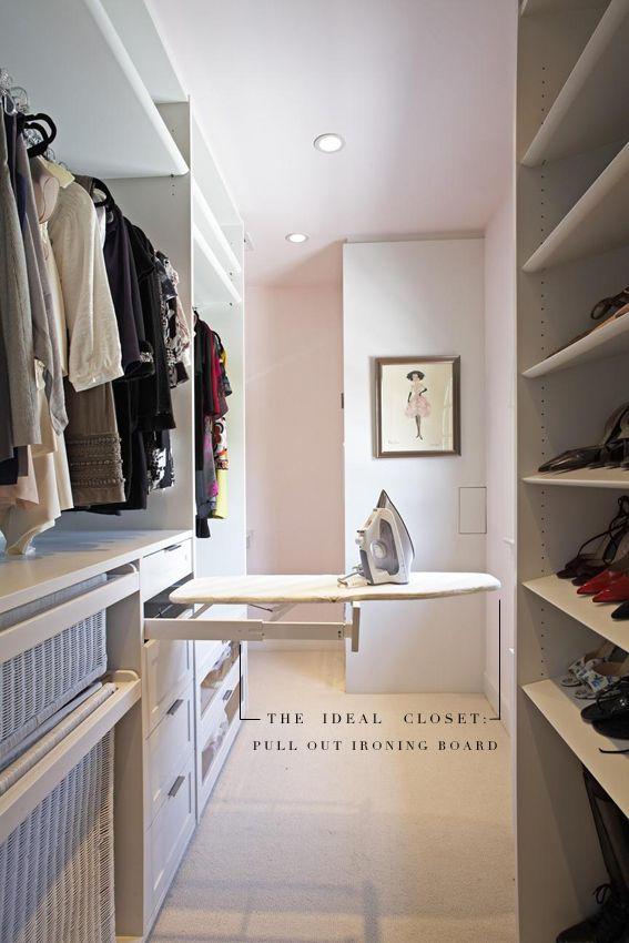 The Ideal Closet Pull Out Ironing Board Closets Ideas Armario Cuartos Del Armario Disenos De Unas