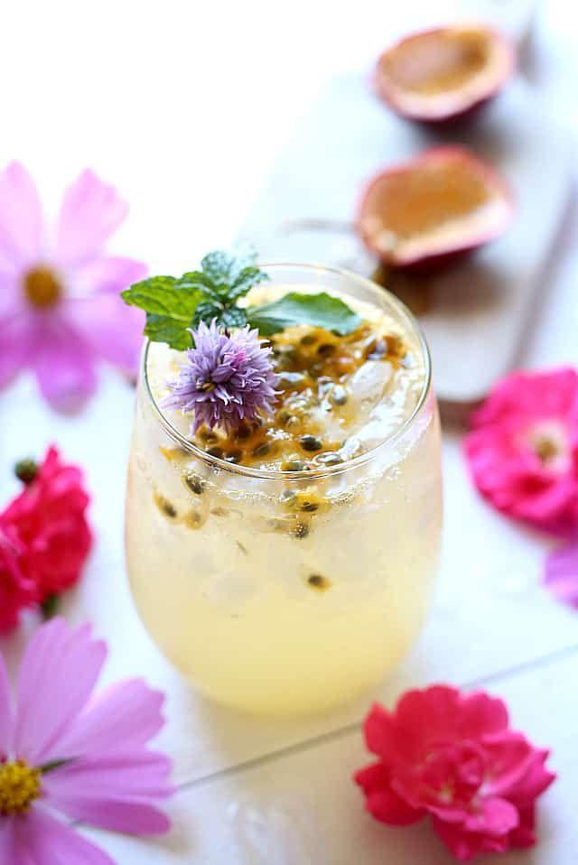 Passion Fruit Cocktail + 20 Passion Fruit Recipes | Recipe | Recipes with fruit cocktail. Passionfruit recipes. Fruit recipes