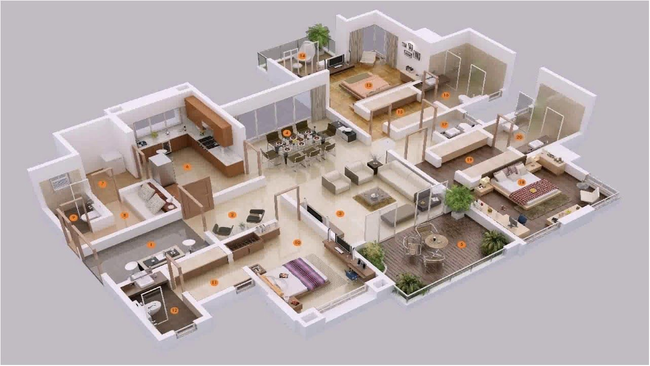 marvelous 5 bedroom house plans 3d 5 bedroom house plans