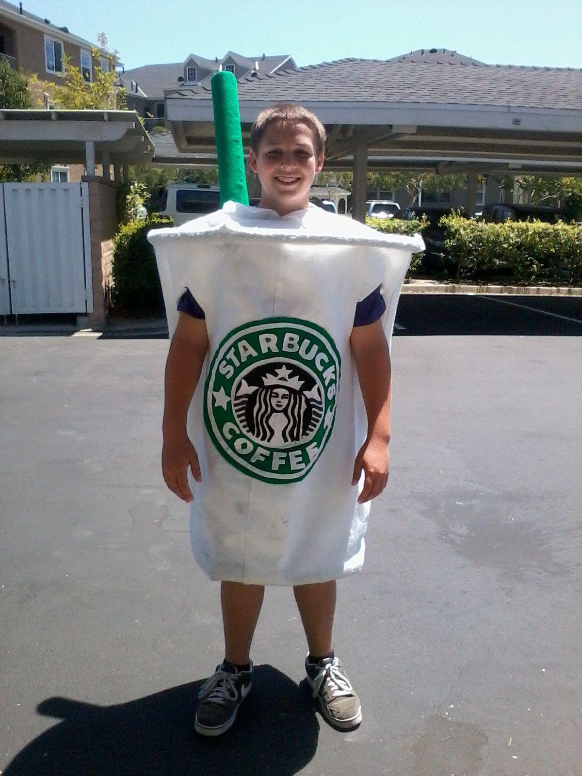 Badass Homemade Starbucks cup costume Starbucks