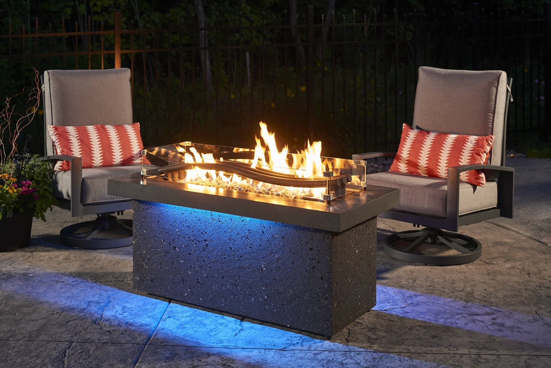 How Many Btus Do I Need In My Gas Fire Pit The Outdoor Greatroom Company Has Your Outdoor Living Btu Answers Fire Pit Table Modern Fire Pit Fire Pit