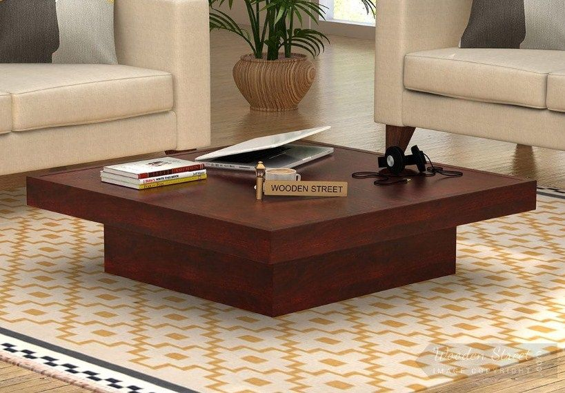 Buy Sofar Coffee Table Mahogany Finish Online In India With