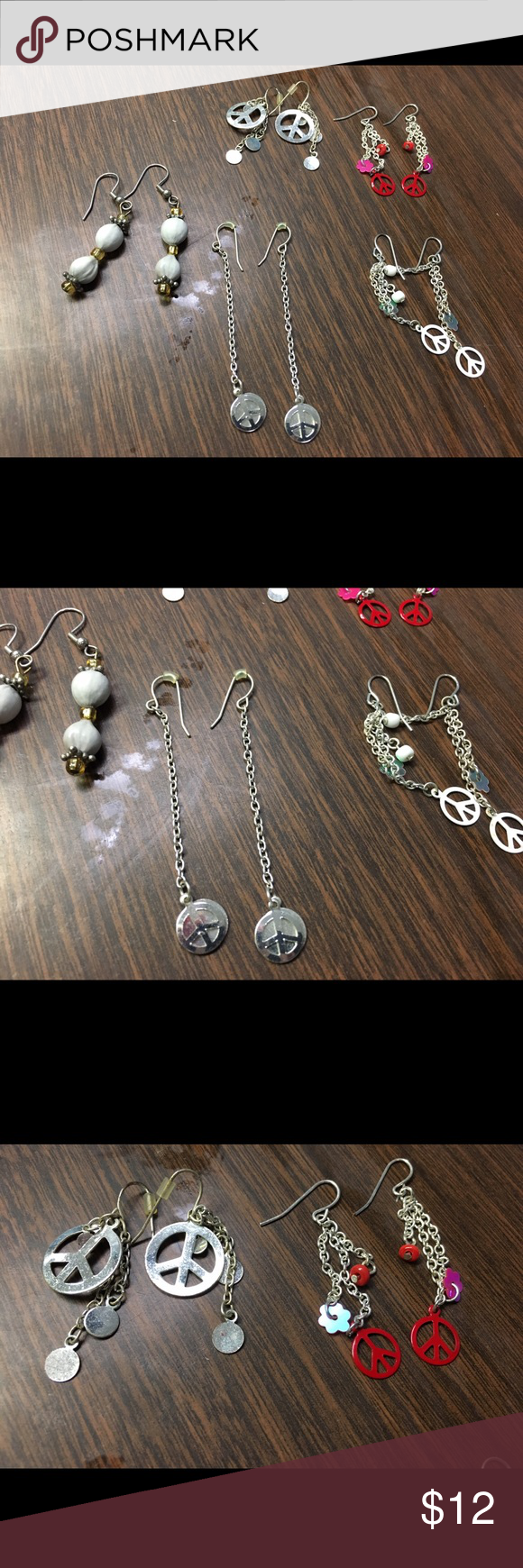 Download Bundle of cute peace sign earrings and beads Super cute ...