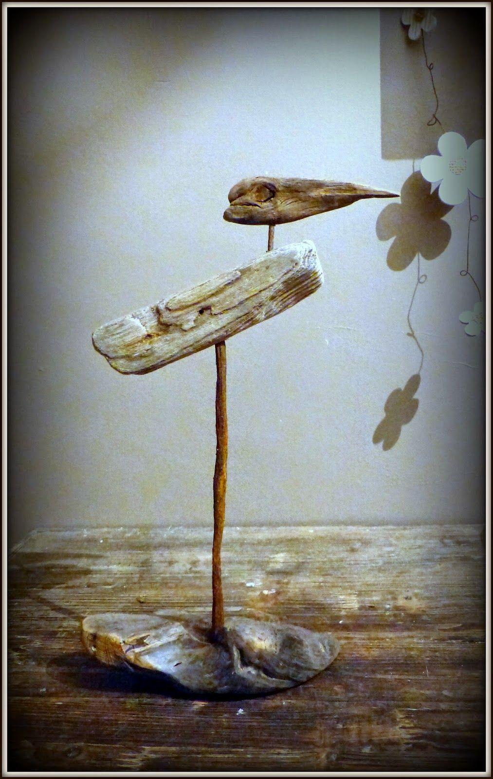 oiseau bois flott driftwood bird cr ations mutoz inc. Black Bedroom Furniture Sets. Home Design Ideas