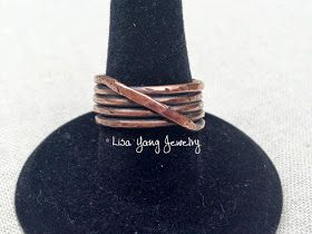 Lisa Yang's Jewelry Blog: Free Tutorial: Copper Woven Stacked Ring