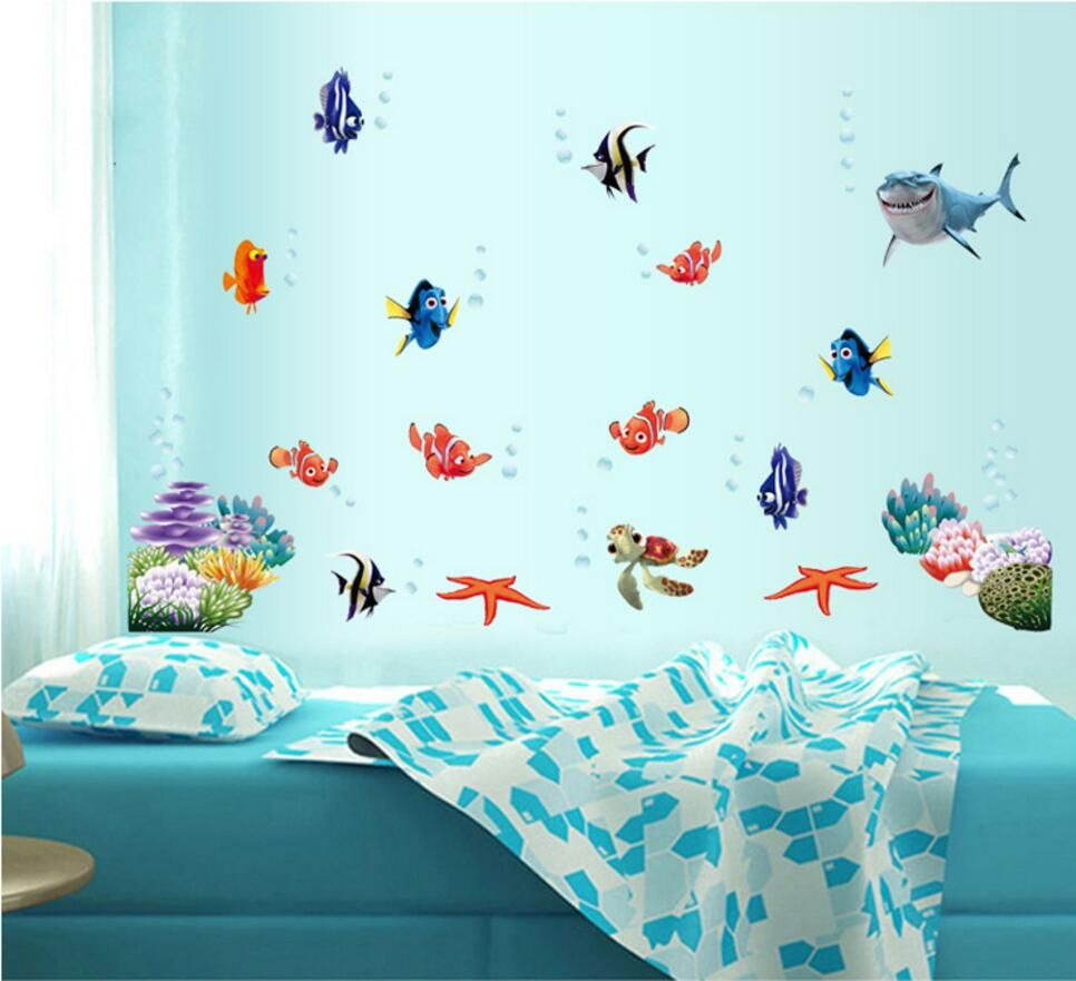 gorgeous fish inspiration best fishing design pinterest decor bedroom for on of wall walls ideas