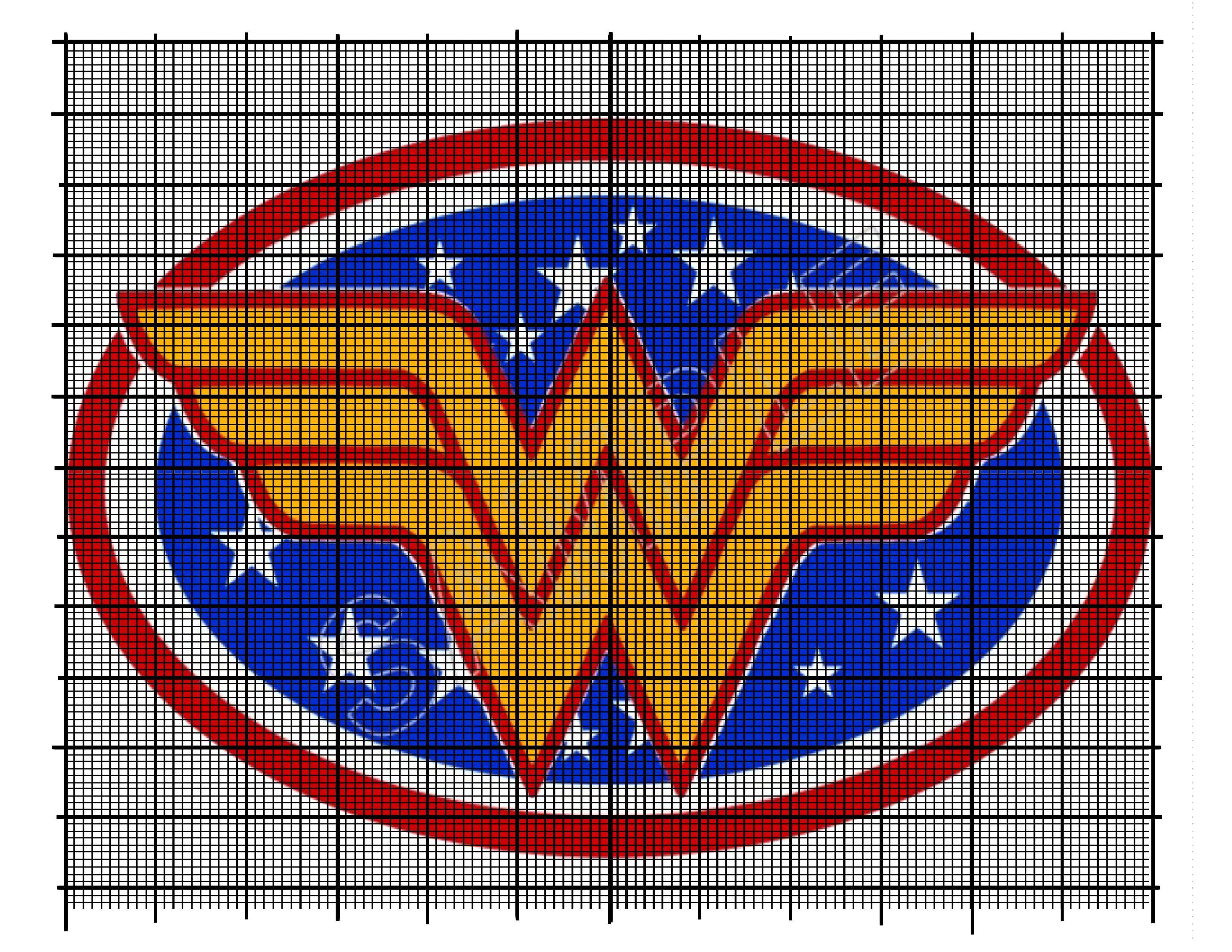 Wonder Woman Logo Cross Stitch Embroidery Projects