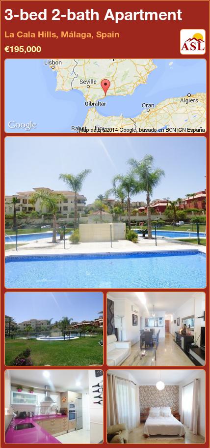 Apartment For Sale In La Cala Hills Málaga Spain With 3 Bedrooms 2 Bathrooms A Spanish Life Bath Apartments Apartments For Sale Apartment