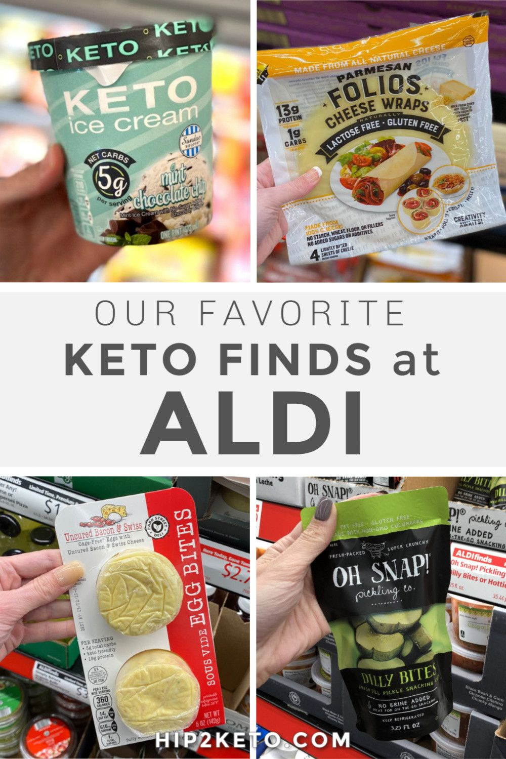 ALDI has been winning me over lately — the convenience of their store layout, their awesome exclusive brands (that are cheaper and sometimes BETTER than name brand products), and the great deals readers and team members come across in the ALDI Finds section. Turns out, they're also a great source for keto shopping! #keto #aldi #grocery