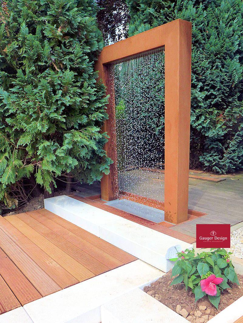 Http Www Designer Brunnen De Cortenstahl Wassertor Malia Htm Diy Gartenbrunnen Gartenbrunnen Aussenbrunnen