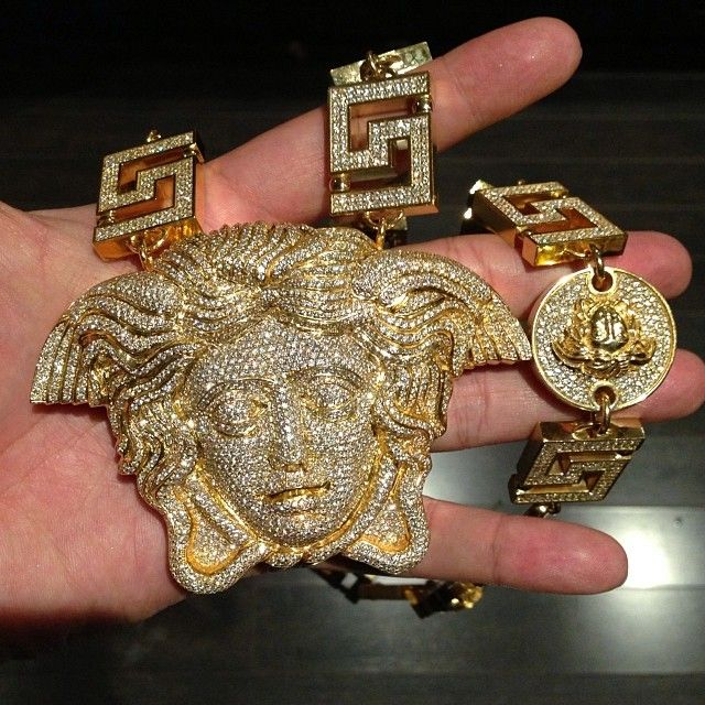 13165980926ea Tyga's Versace Medusa Chain made by Jason of Beverly Hills ... | my ...
