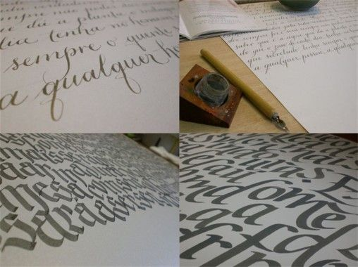 Projeto da calígrafa Andrea Branco com a Arjowiggins.