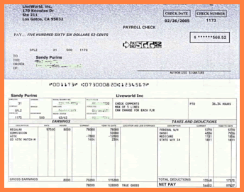 Free Paycheck Stub Templatepaytstub Template Thumbpng Sales - Real pay stub template