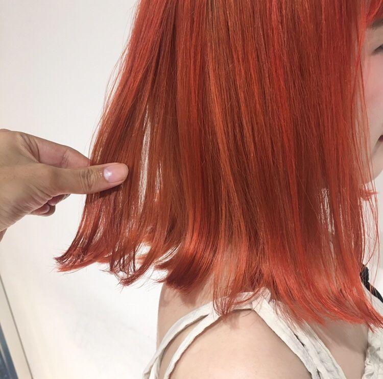 Keitaブログ 春先取り フラッシュオレンジカラー オレンジ ヘア