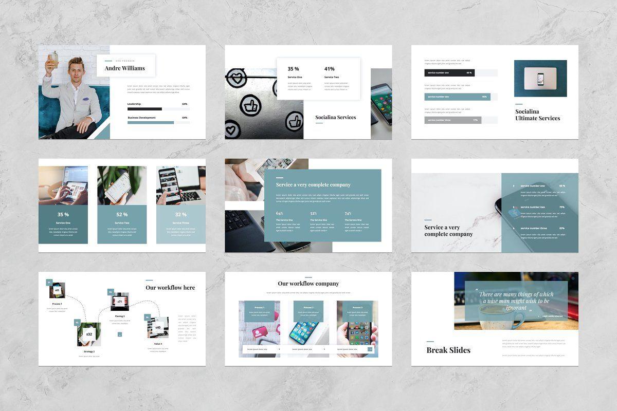 Social Media Powerpoint Template Keynote Template Business Presentation Social Strategy Free social media powerpoint template