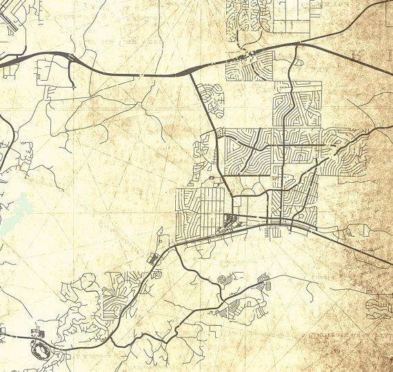 PRESCOTT AZ Canvas Print Arizona Vintage Map Prescott Az City - Oversized vintage maps