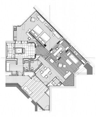 Park Hyatt Shanghai Diplomat Suite Hotel Plan Hotel Floor Plan Hotel Floor