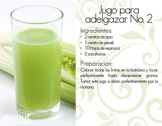 recetas de jugoterapia para adelgazar