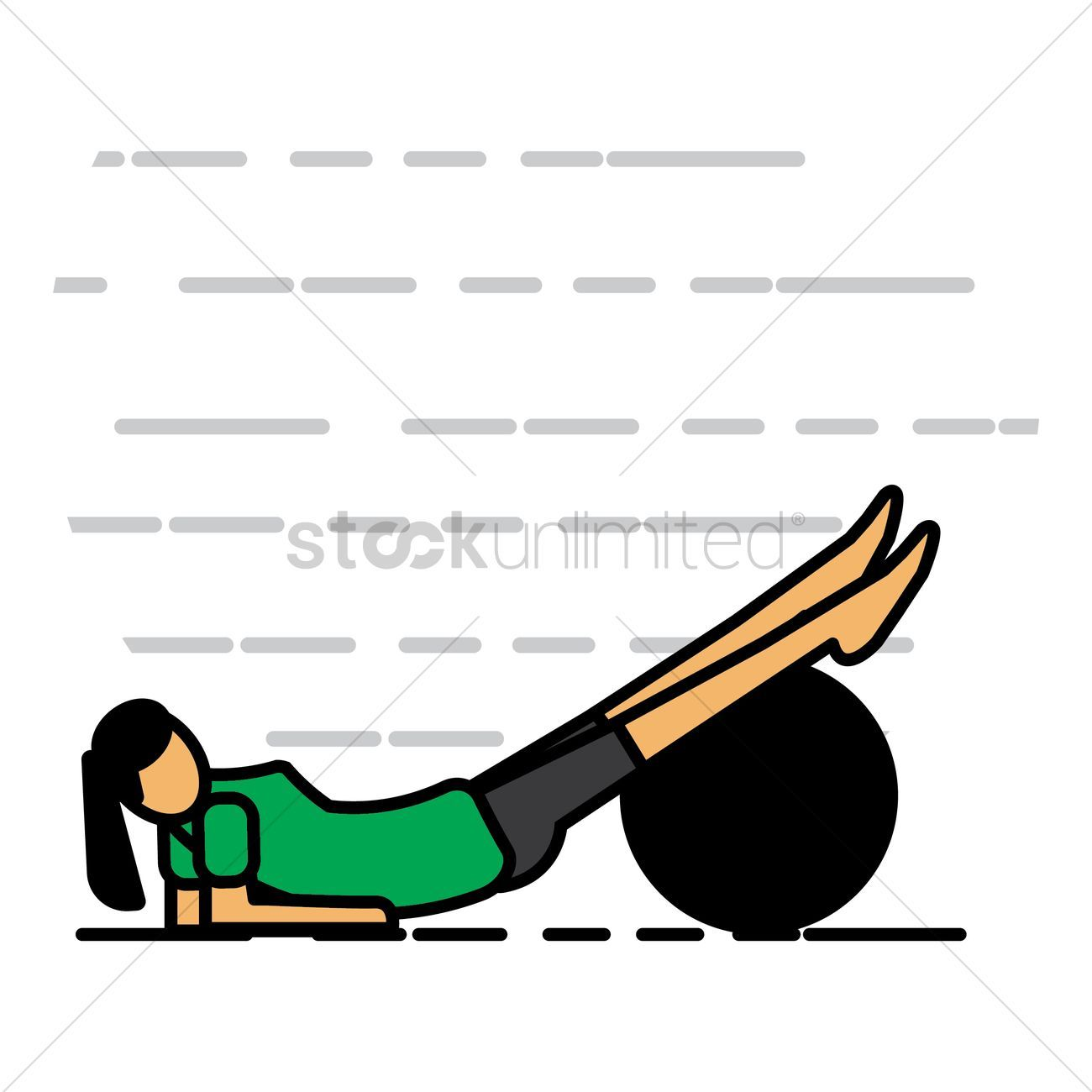 Woman exercising with fitness ball vectors, stock clipart , #sponsored, #fitness, #exercising, #Woma...