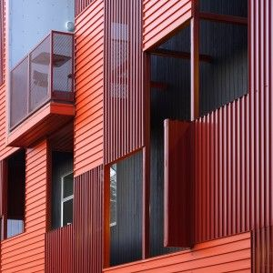 Metal construction of contemporary house using corrugated metal metal construction of contemporary house using corrugated metal siding and picture windows sciox Image collections