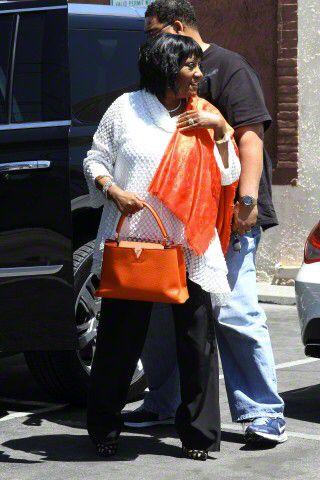 Patti arrive at rehearsal studios 18/4/15 - credit: AKM-GSI