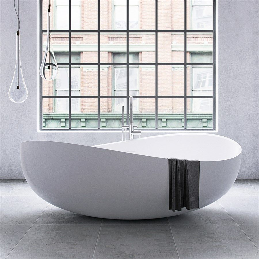 Photo of Gabbiano 180 – 180×110, Solid Matt White SolidTec®