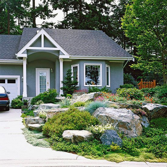 Front Yard Landscaping Ideas With Rocks: Wow, Such A Gorgeous Rocky Landscape. Natural Stone