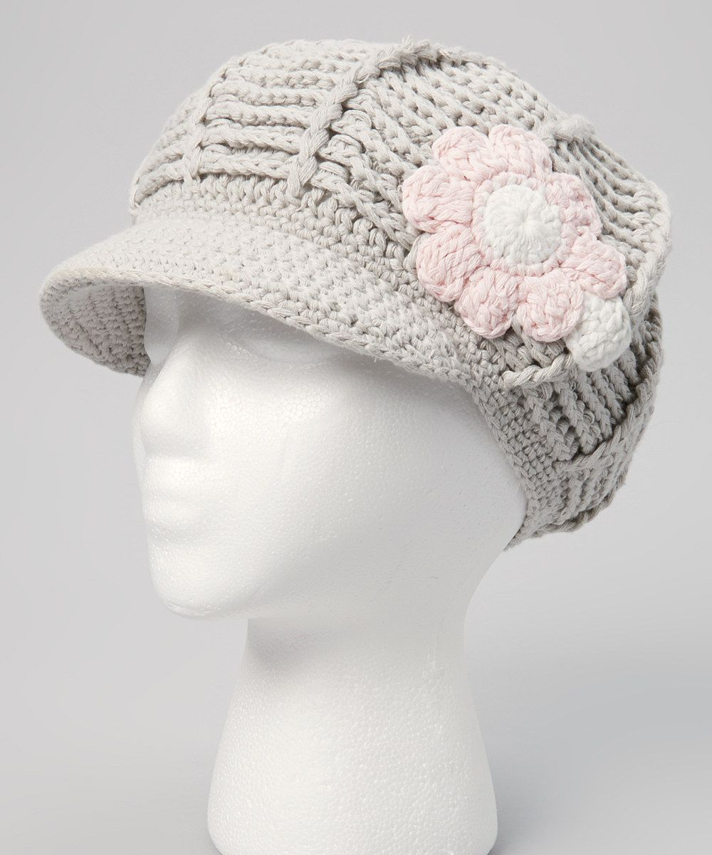 Gray Crocheted Newsboy Cap $14.99 | Tejidos | Pinterest | Tejido