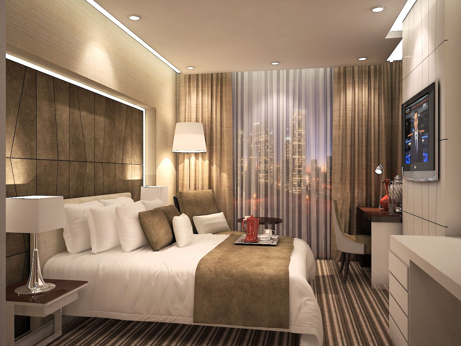 5 Star Hotel Bedroom Interior Design